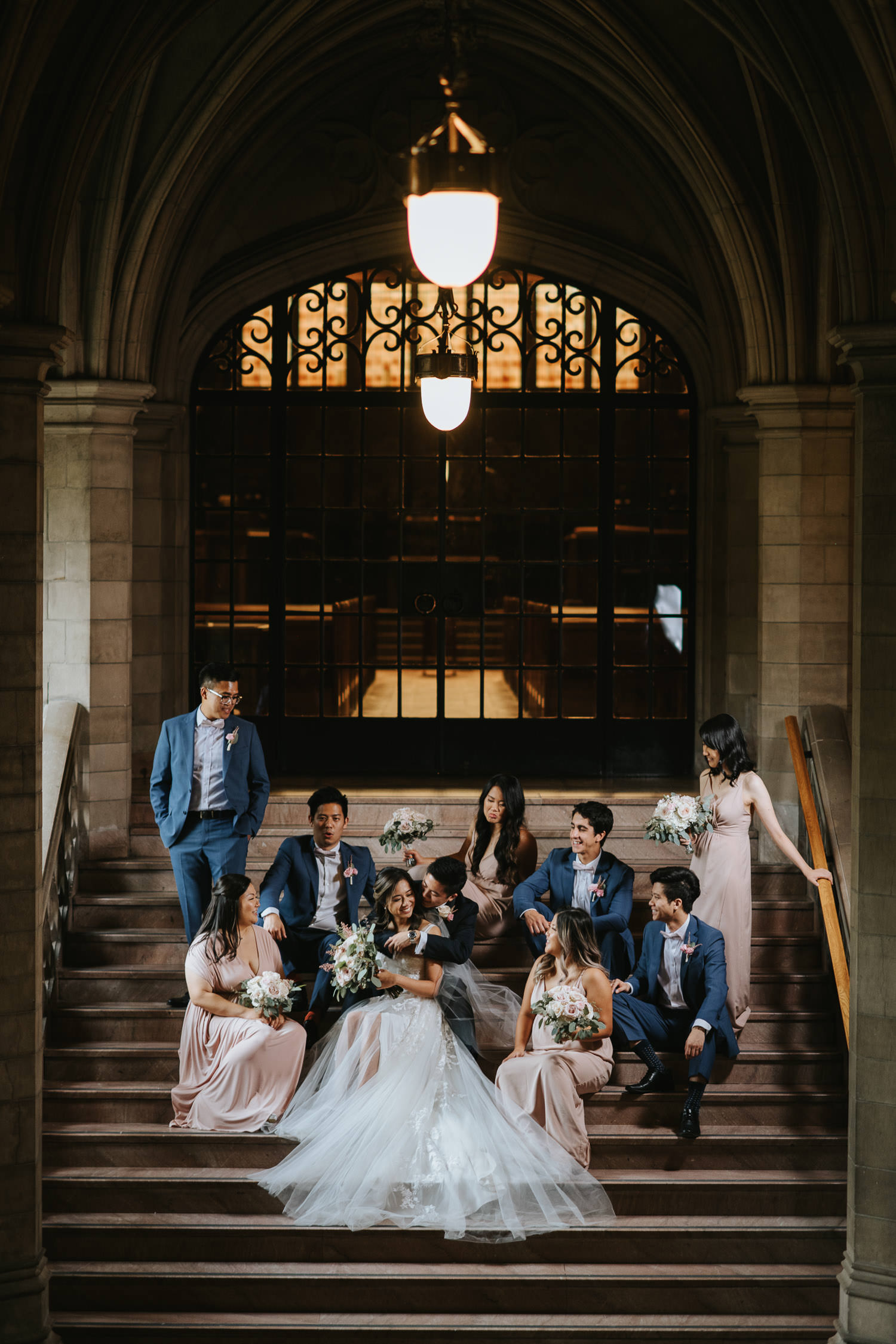 Knox College Wedding Group Photo