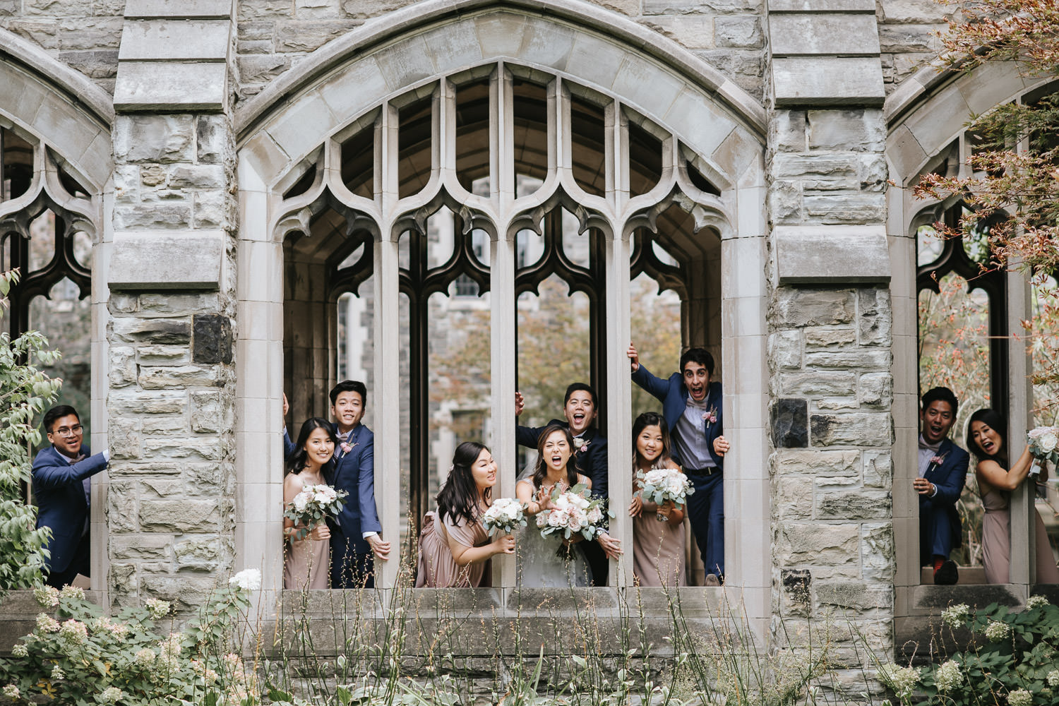 Knox College Wedding Party Photo