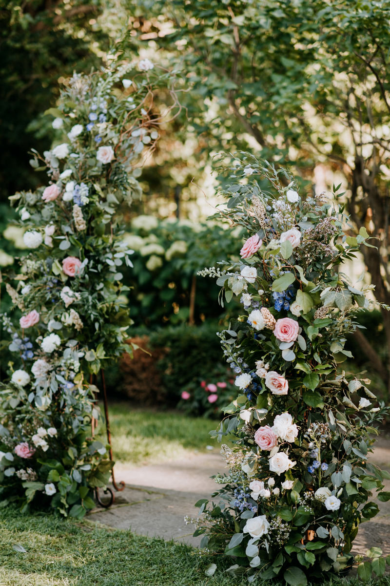 Outdoor Wedding Open Flower Arch created by Delight Floral Design