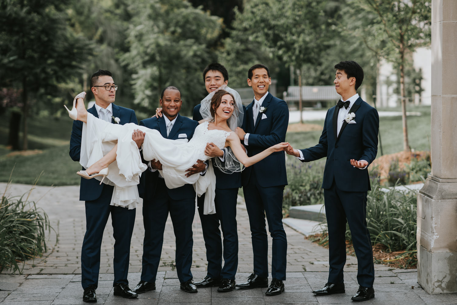 Philosopher's Walk Wedding Party Photo