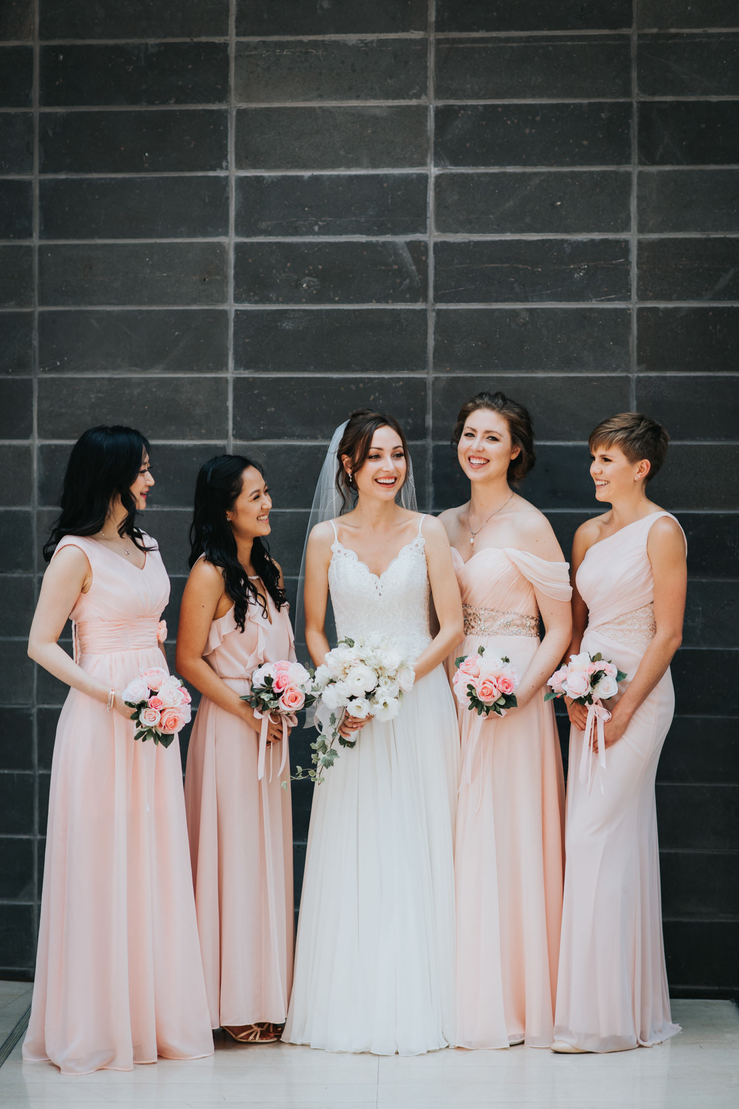 Toronto RCM Atrium Wedding Bridal Party Photo
