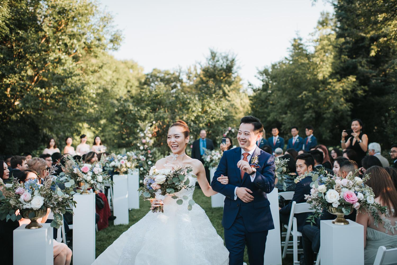 Toronto Graydon Hall Backyard Wedding Resessional
