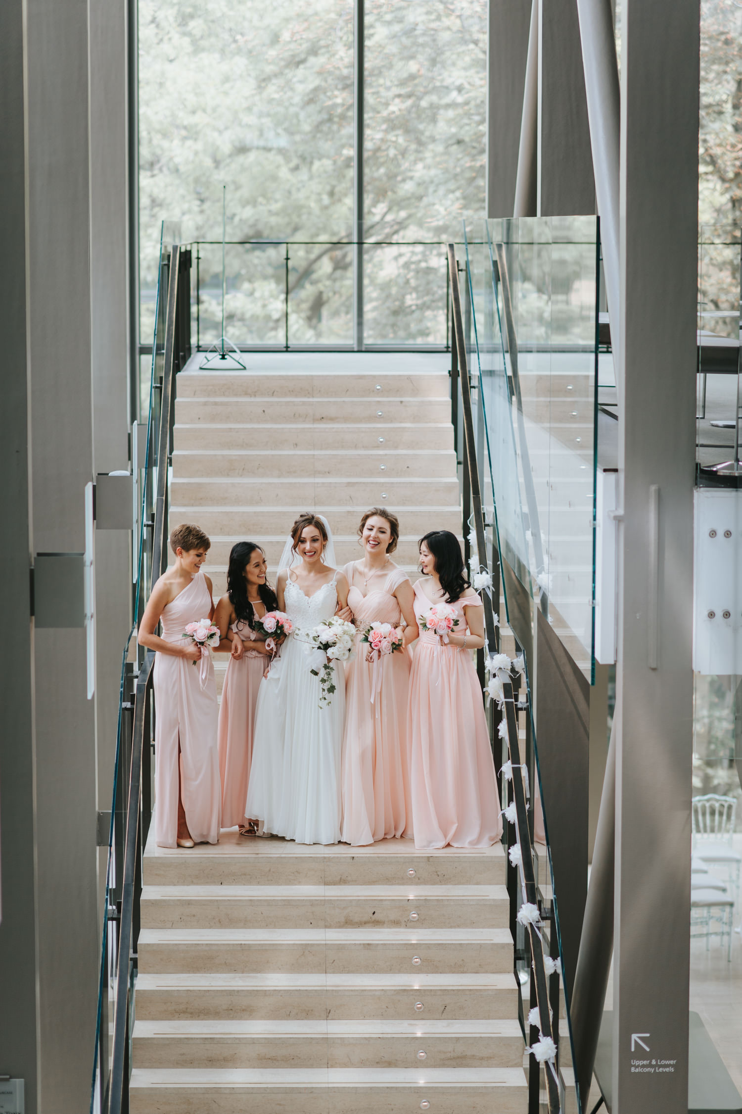Toronto Royal Conservatory of Music Wedding Bridal Party at the Staircase