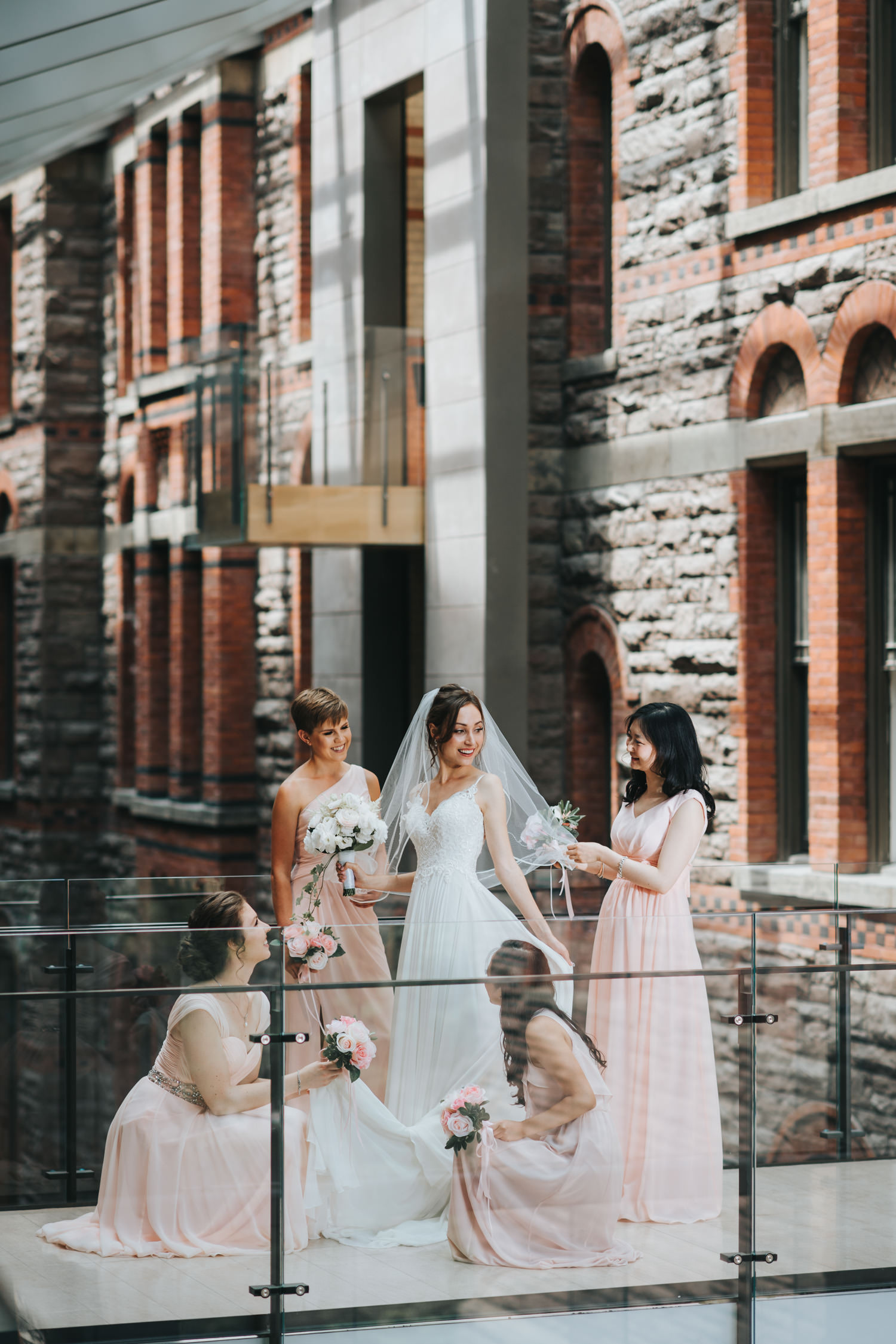 Toronto Royal Conservatory of Music Wedding Bridal Party Photo