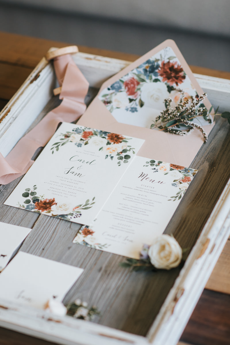 Rustic Wedding Stationery Details