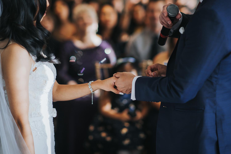 Canoe Wedding Ceremony Ring Exchange