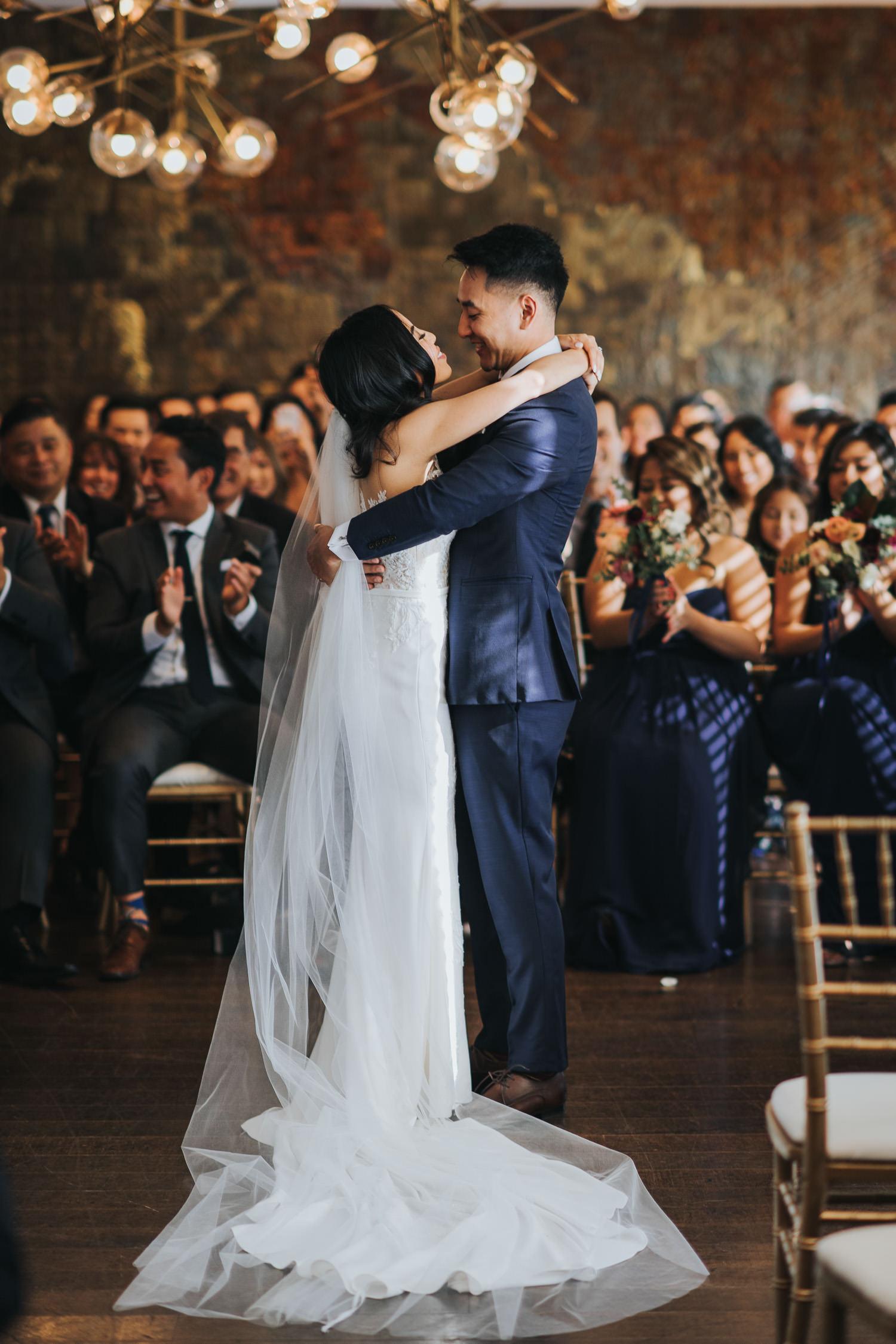 Toronto Canoe Wedding Ceremony First Kiss