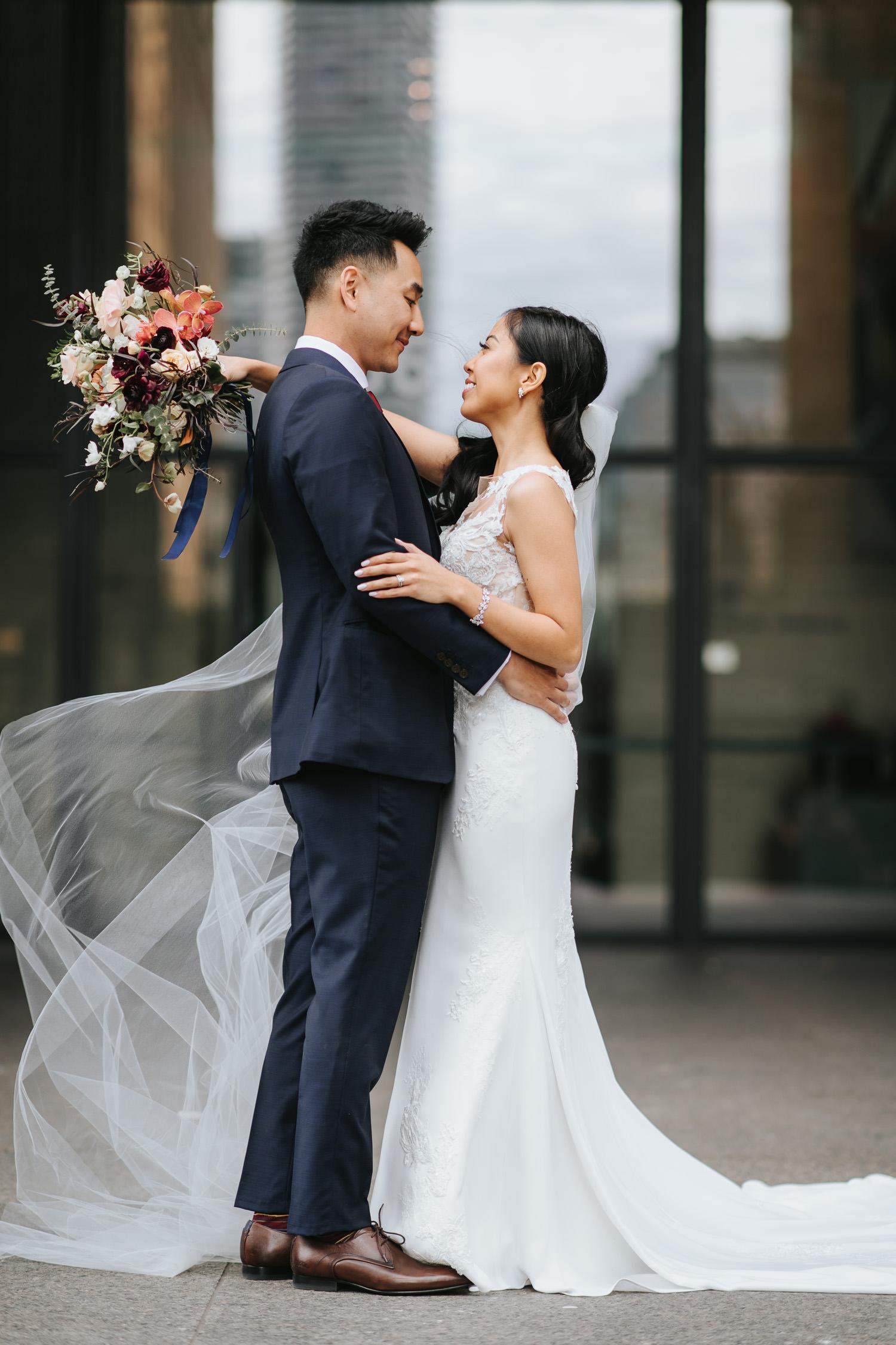 Toronto Financial District Wedding Photo