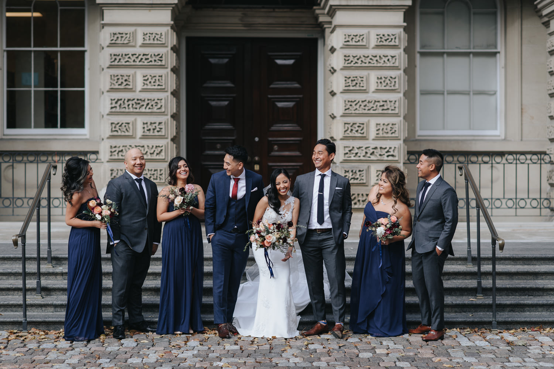 Toronto Osgoode Hall Wedding Party Portraits