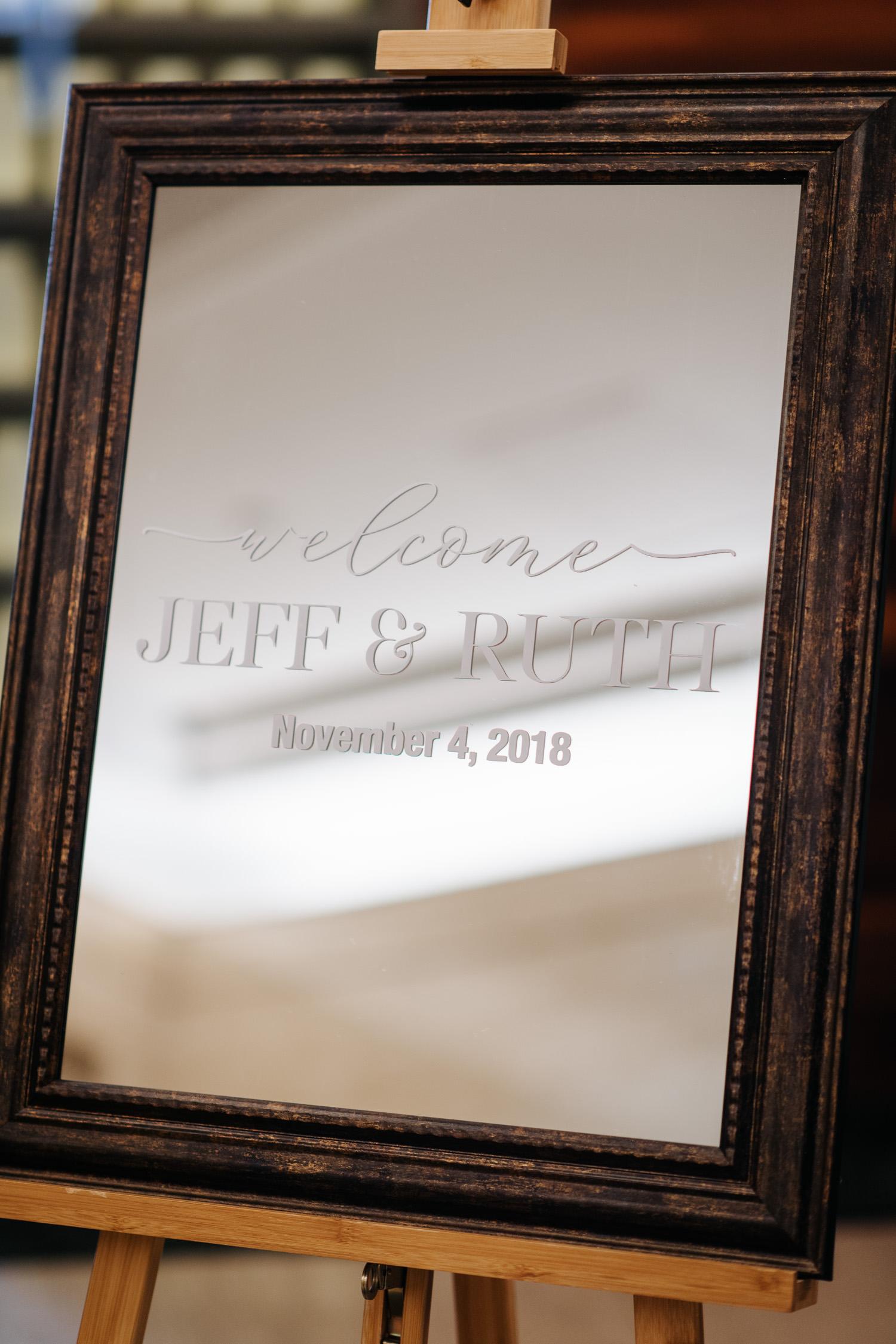 Toronto Canoe Wedding Ceremony Welcome Sign