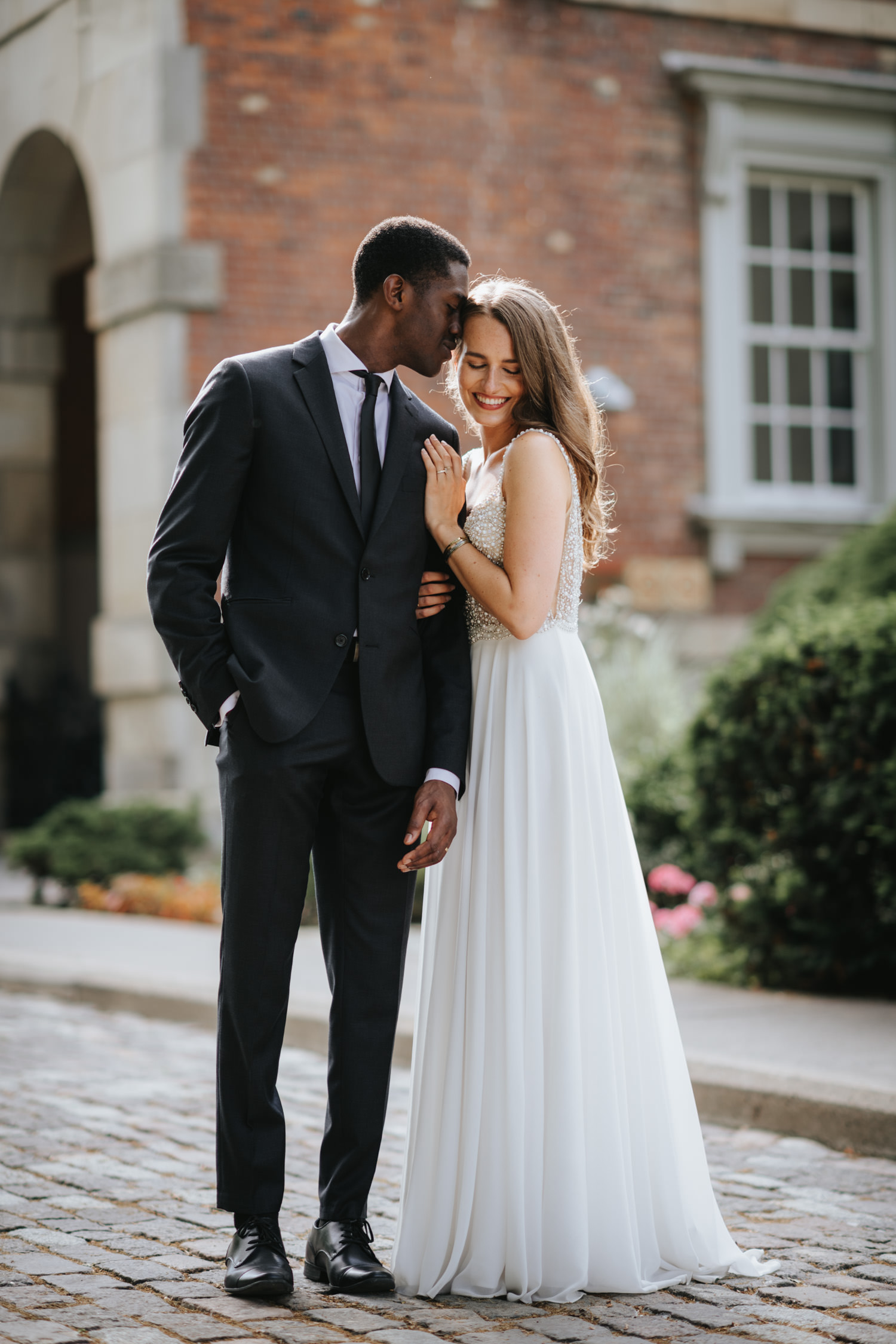 Sunny editorial wedding portrait photography at Osgoode Hall Toronto by eric cheng