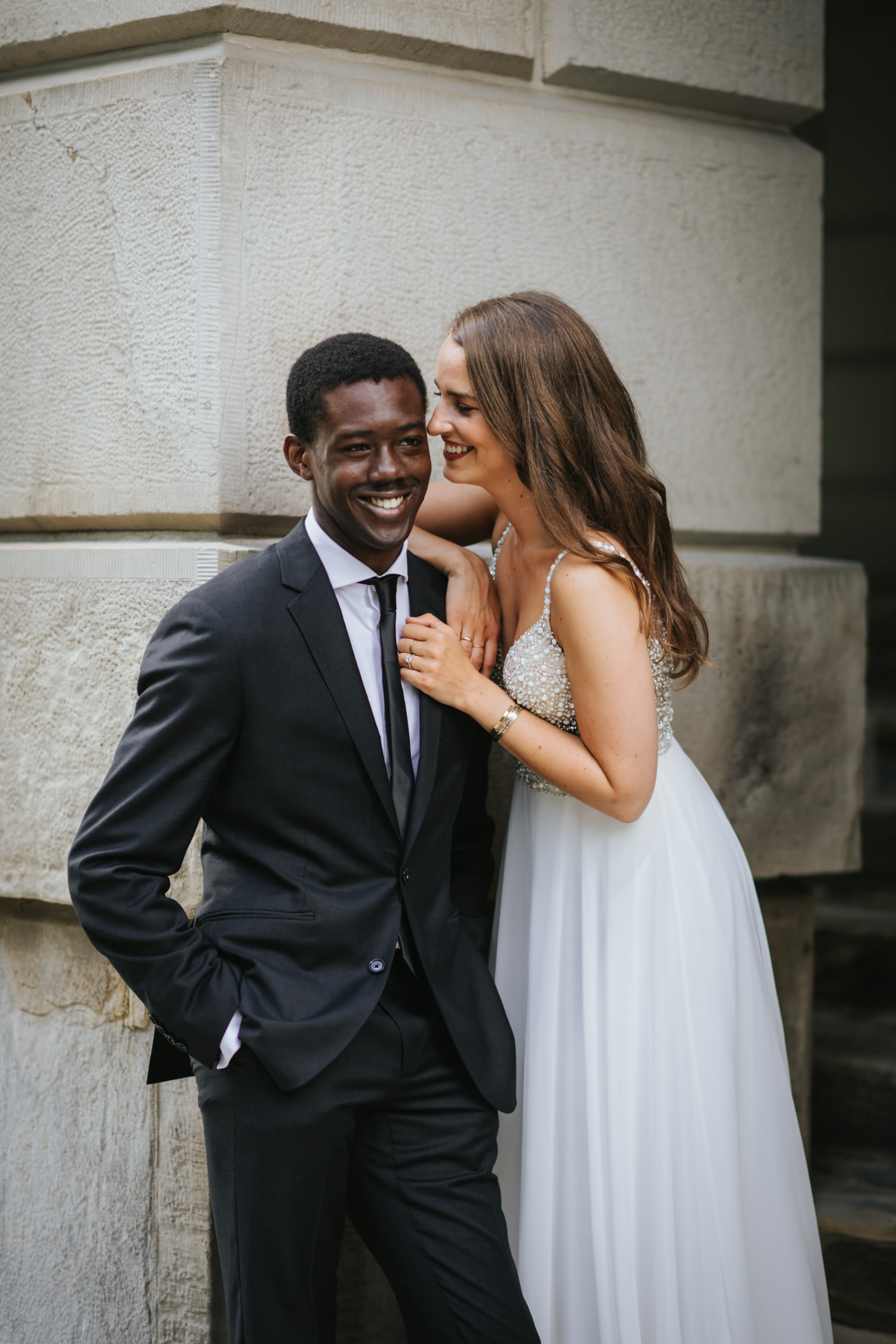 Classy editorial wedding photography happy couple at Osgoode Hall Toronto
