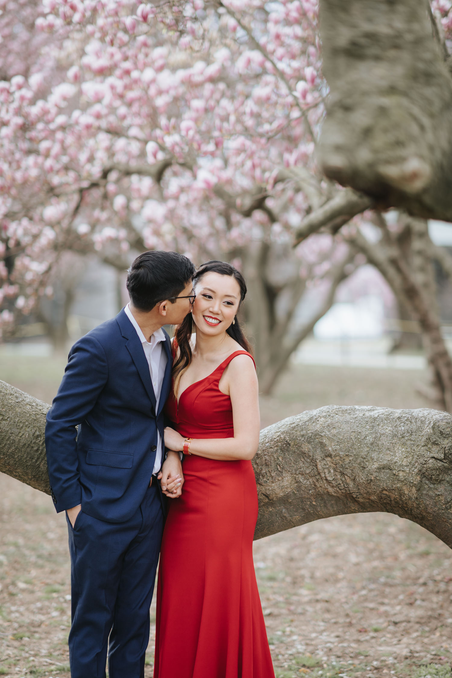 Tidal Basin Cherry Blossom Engagement Session in Washington DC