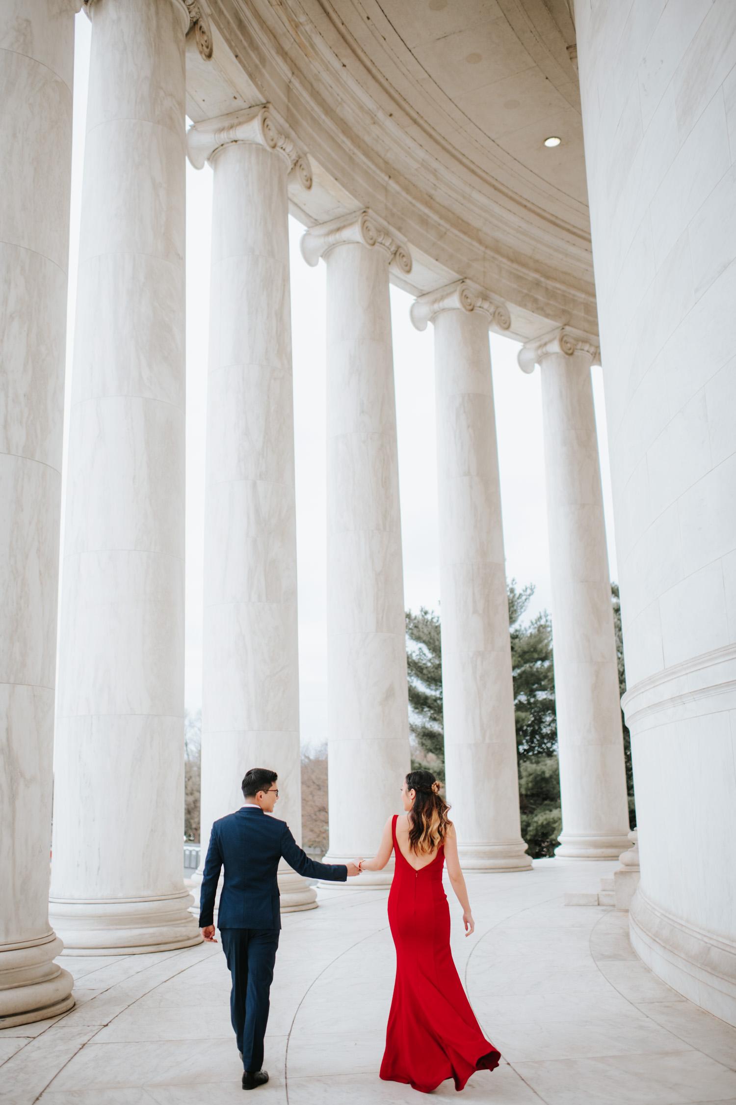 Jefferson Memorial Washington DC Engagement Session