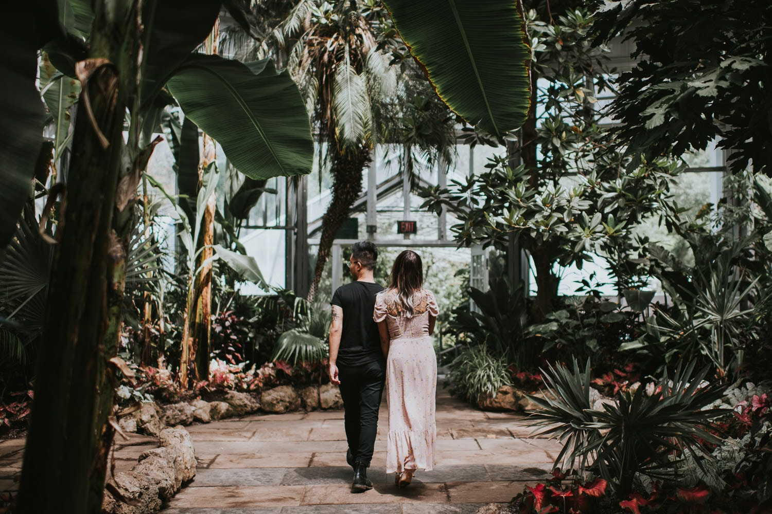 Allan Gardens Engagement Photo Tropical House