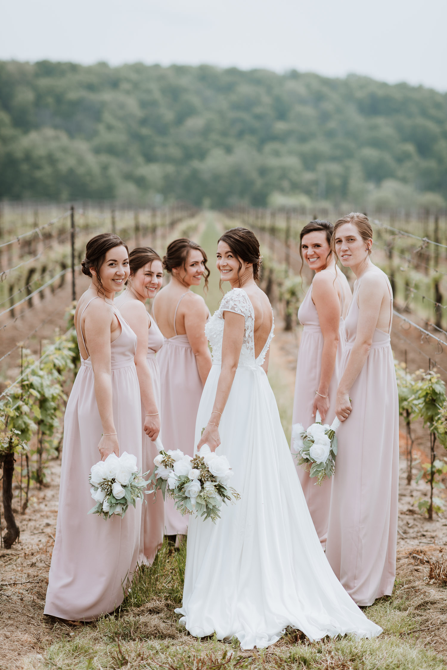 Cave Spring Vineyard Bridesmaids Photo