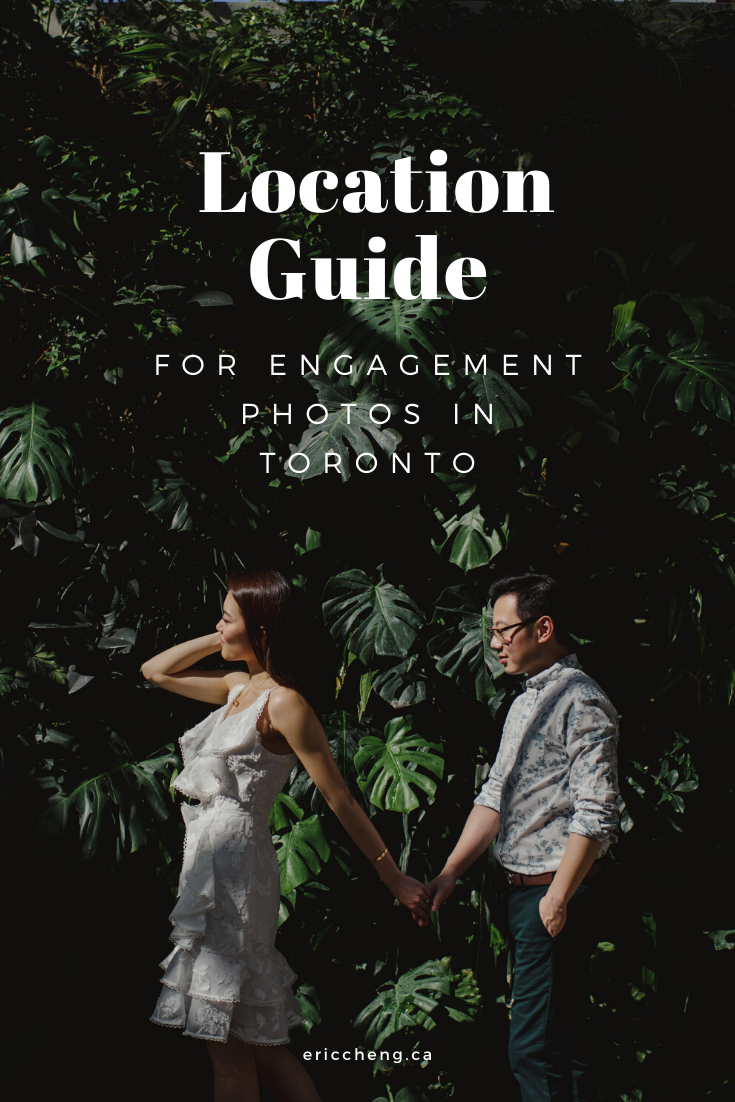 location guide for engagement photos in Toronto