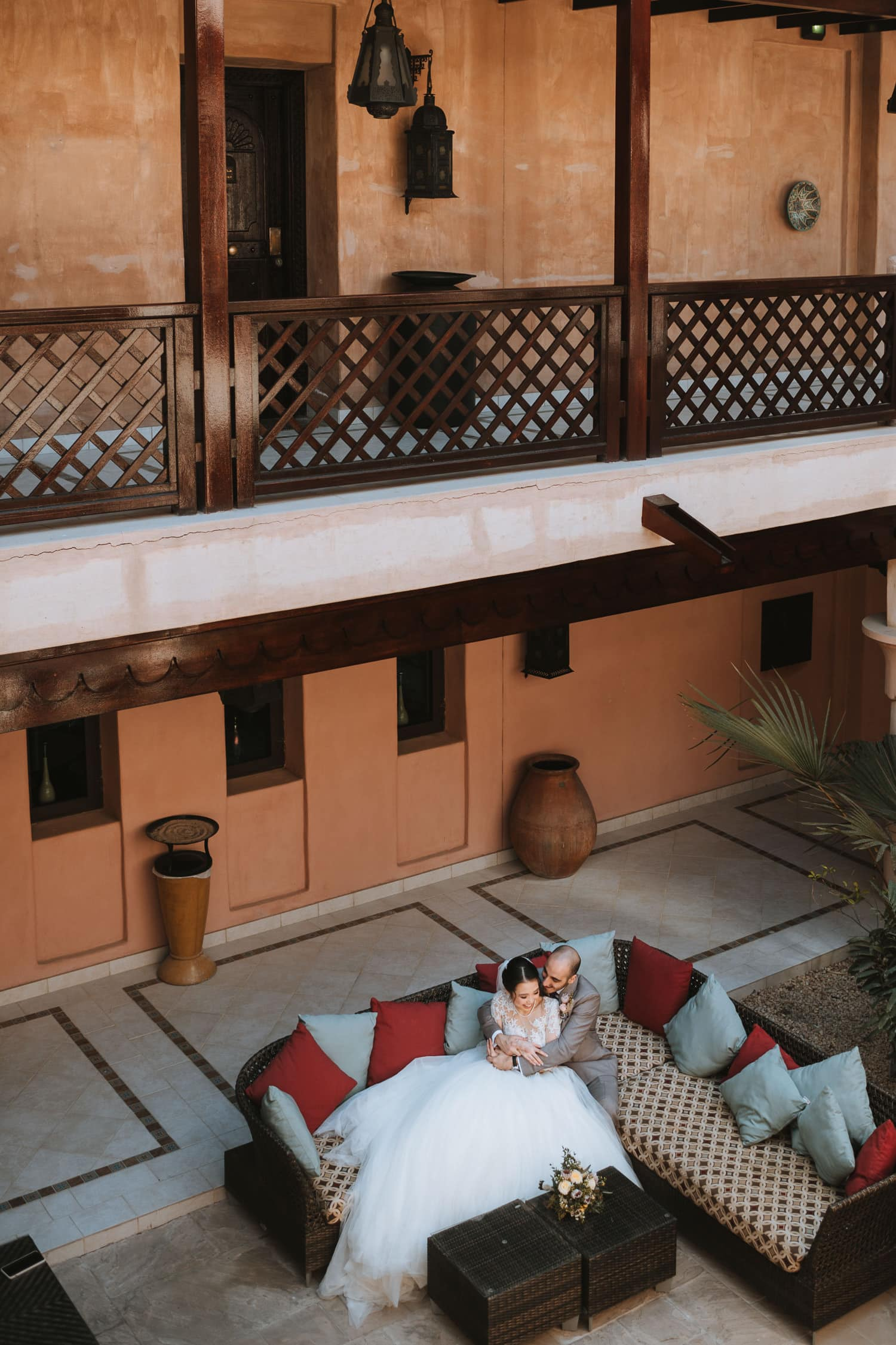 Boho Chic Wedding Courtyard Jumeirah Al Qasr Dubai