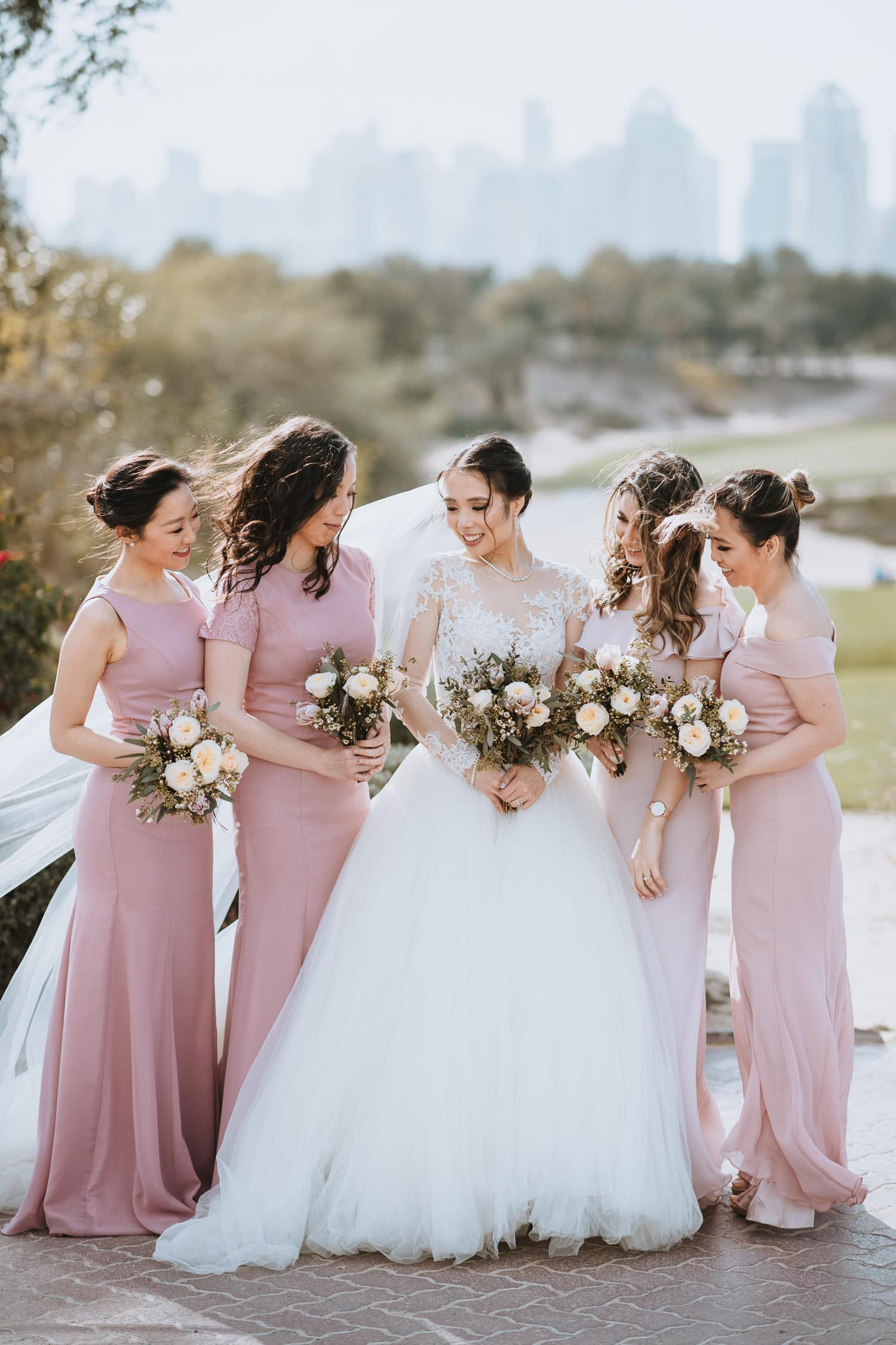 Emirates Golf Club Wedding Bridesmaids Photo