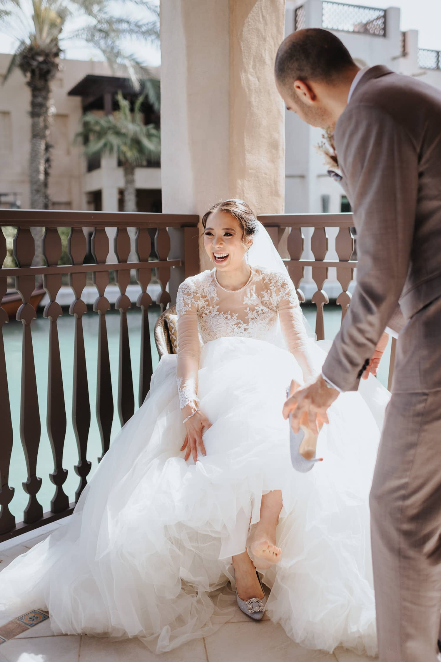 Luxury Dubai Wedding Jumeirah Al Qasr Getting Ready