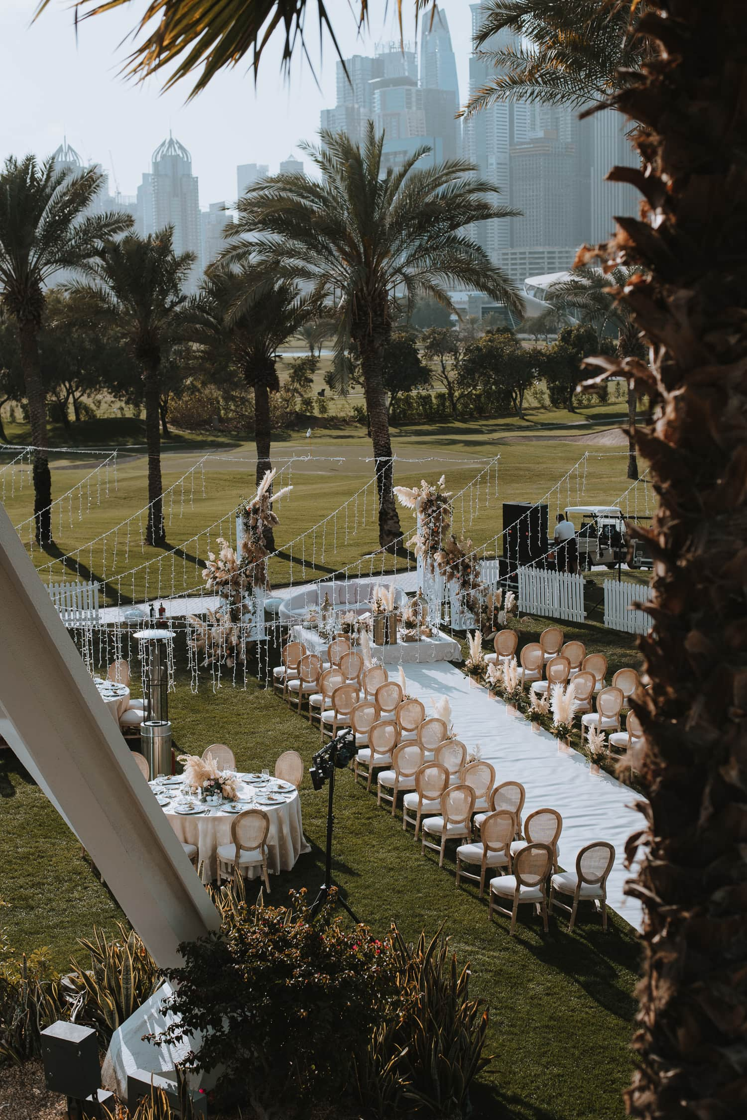 Outdoor Golf Club Persian Wedding