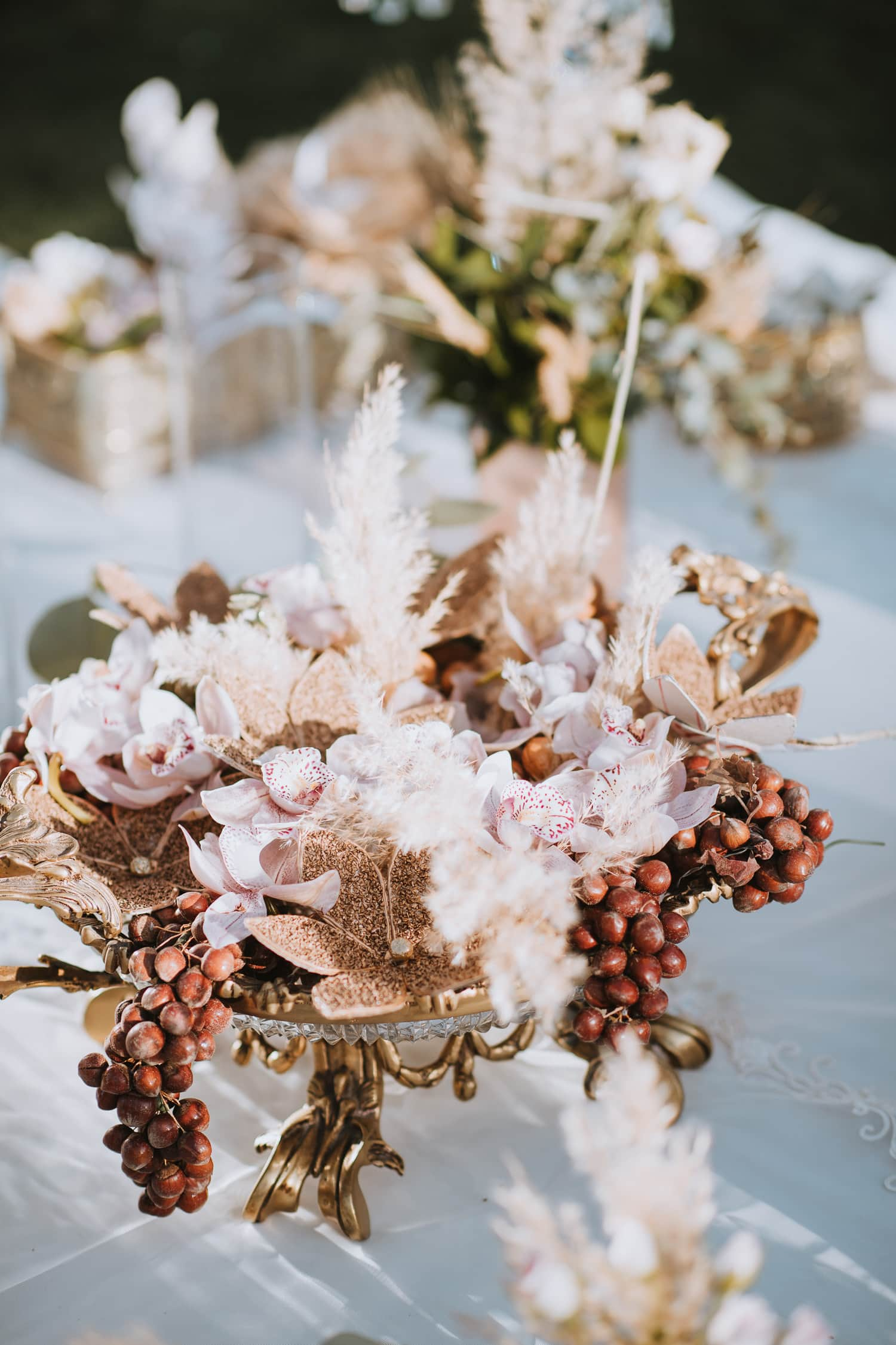Whimsical Persian Wedding Sofreh Floral Detail